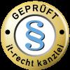 IT-Recht-Kanzlei geprüft Logo