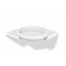 HEWI 477 Dusch-Eckablage, diebstahlsicher aus Polyamid, reinweiss