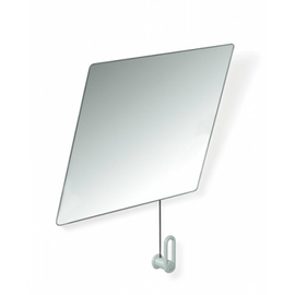 HEWI 801-Kippspiegel aus Kristallglas 28 Grad neigbar, 600x540 mm, reinweiss