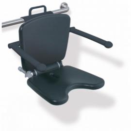 HEWI LifeSystem Einhängesitz Premium Sitzhöhe verstellbar, anthrazitgrau/reinweiss