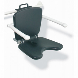 HEWI LifeSystem Einhängesitz Premium Sitzhöhe verstellbar, lichtgrau/reinweiss