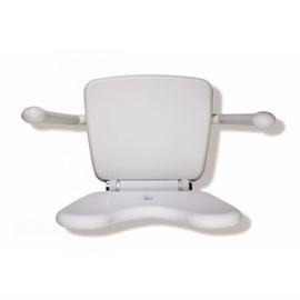 HEWI LifeSystem Klappsitz Premium Sitzhöhe verstellbar, lichtgrau/reinweiss