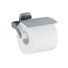 INDA EXPORT Papierrollenhalter mit Deckel 13x10x7cm, verchromt
