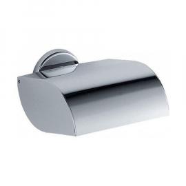 INDA COLORELLA Toilettenpapierhalter mit Deckel 13x10x12cm, verchromt