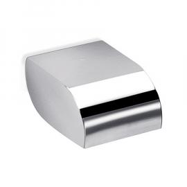 INDA HOTELLERIE Toilettenpapierhalter mit Deckel 13x10x10cm, geräuschlos, verchromt