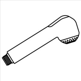 IDEAL STANDARD Druck-Geschirrbrause passend zu Amica A8107AA, verchromt