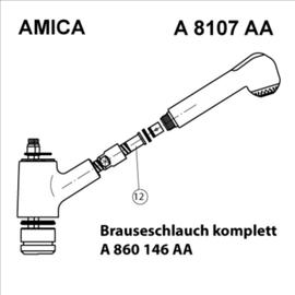 IDEAL STANDARD Geschirrbrauseschlauch passend zu Amica A8107AA, chrom