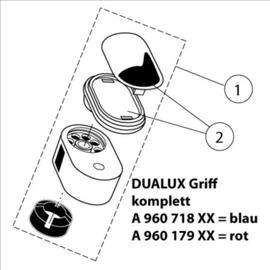 IDEAL STANDARD Griff kalt komplett, passend zu DUALUX-Waschtischbatterie