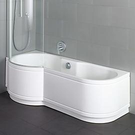 BETTECORA COMFORT ECKE Badewanne mit Duschbereich links 1600 x 900 x 420 mm, weiss