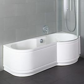 BETTECORA COMFORT ECKE Badewanne mit Duschbereich rechts 1700 x 900 x 420 mm, weiss