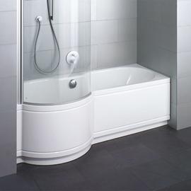 BETTECORA COMFORT NISCHE Badewanne mit Duschbereich links 1600 x 900 x 420 mm, weiss