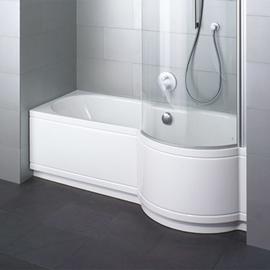 BETTECORA COMFORT NISCHE Badewanne mit Duschbereich rechts 1700 x 900 x 420 mm, weiss