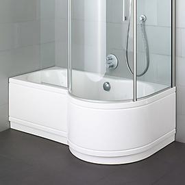 BETTECORA RONDA COMFORT Badewanne mit Duschbereich rechts 1700 x 900/700 mm, weiss