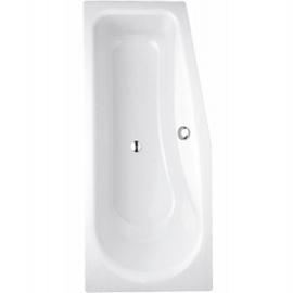 BETTELUNA Kleinraum-Badewanne rechts 1700 x 750 450 mm, rechts, weiss