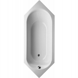 BETTEPUR SECHSECK Badewanne 2150x850 x 450 mm, weiss