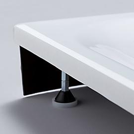 BETTESCHALLSCHUTZSET für Duschwannen 3,5 cm tief