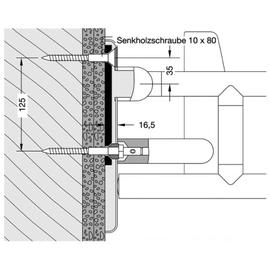 HEWI 801 Befestigungsset BM12.2.1 zur Befestigung von Rückenstützen