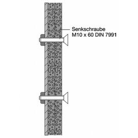 HEWI 801 Befestigungsset BM13.2 für Griffe und Duschspritzschutz