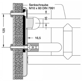 HEWI 801 Befestigungsset BM13.2.1 zur Befestigung von Rückenstützen