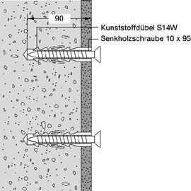 HEWI 801 Befestigungsset BM20.4 für Klappsitze