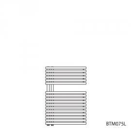 BAGNOTHERM MOVE BTM-Badheizkörper HxL 726x500 mm, verkehrsweiss AF6, Ausführ.links