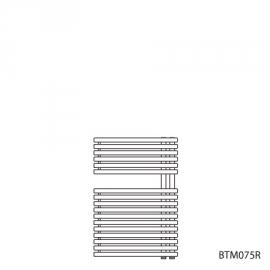 BAGNOTHERM MOVE BTM-Badheizkörper HxL 726x500 mm, verkehrsweiss AF6, Ausführ.rechts