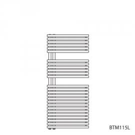 BAGNOTHERM MOVE BTM-Badheizkörper HxL 1144x500 mm, verkehrsweiss AF6, Ausführ.links