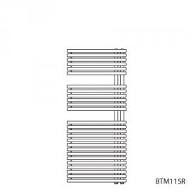 BAGNOTHERM MOVE BTM-Badheizkörper HxL 1144x500 mm, verkehrsweiss AF6, Ausführ.rechts