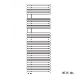 BAGNOTHERM MOVE BTM-Badheizkörper HxL 1488x500 mm, verkehrsweiss AF6, Ausführ.links