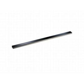 DALLMER CeraLine Glas-Abdeckung, Glas schwarz 500 mm, Edelstahl