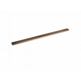 DALLMER CeraLine Holz-Abdeckung, Teakholz 500 mm, Edelstahl