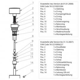 FRANKE Ersatzteil EACCS0008 Dichtungsset für Seifenspender SD80