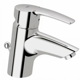 GROHE Eurostyle Einhand-Waschtischbatterie 33558 Zugstangen-Ablaufgarnitur, flex.Schläuche chrom