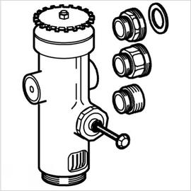 GROHE WC-Druckspüler 43997 Wandeinbau DN20 Austauscharmatur für Niederdruck