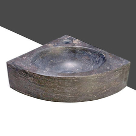 Forzalaqua Turino Bluestone matt-poliert 30x30x10cm, Stichloch 1xD36mm