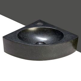 Forzalaqua Turino Basalt matt-poliert 30x30x10cm, Stichloch 1xD36mm