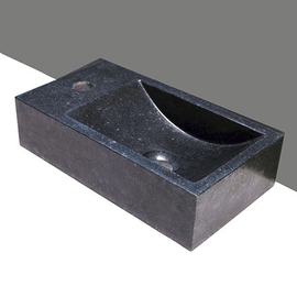 Forzalaqua Venetia Basalt matt-poliert 40x22x10cm, Stichloch 1xD36mm, L