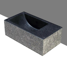 Forzalaqua Venetia XS Basalt beflammt-gebürstet 29x16x10cm R