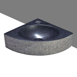 Forzalaqua Turino Basalt beflammt-gebürstet 30x30x10cm, Stichloch 1xD36mm