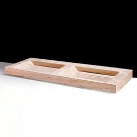 Forzalaqua Bellezza Doppio Travertin matt-poliert 140,5x51,5x9cm