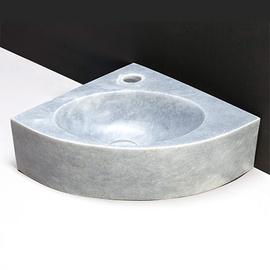 Forzalaqua Turino Marmor matt-poliert 30x30x10cm, Stichloch 1xD36mm