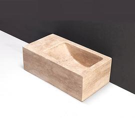 Forzalaqua Venetia XS Travertin matt-poliert 29x16x10cm, L