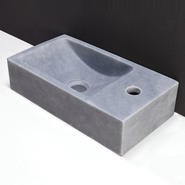 Forzalaqua Venetia Marmor matt-poliert 40x22x10cm, Stichloch 1xD36mm, R