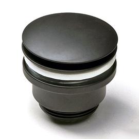 Forzalaqua Ablaufventil G 1 1/4 mit Pop-Up Druckverschluss, chrom matt-schwarz
