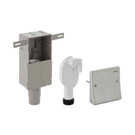 GEBERIT Uniflex UP-Geruchsverschluss für Wasch- oder Geschirrspülmaschine, edelstahl