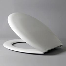 HARO CORSICA Objekt-WC-Sitz mit Deckel, Nylon-Scharnier B0301Y mit FastFixmutter, weissalpin