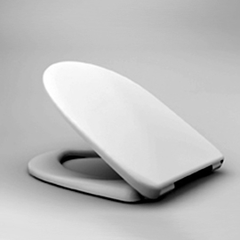 HARO DELPHI SoftClose WC-Sitz mit Deckel, TakeOff Edelstahl-Scharniere C0202Y mit Fastfixmutter, weissalpin