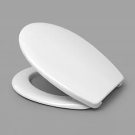 HARO FAGO WC-Sitz mit Deckel, Edelstahl-Scharniere B0302Y mit Fastfixmutter, weissalpin