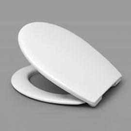 HARO FAVOS SoftClose WC-Sitz mit Deckel, TakeOff Edelstahl-Scharniere C2702Y mit FastFixmutter, weissalpin