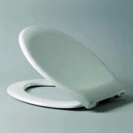 HARO HAROMED BASIC WC-Sitz mit Deckel, Edelstahl-Scharniere B0302W mit SolidFix, weissalpin